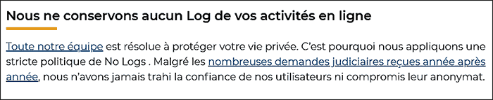 cyberghost politique no-logs